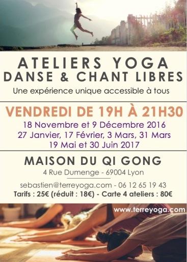 Yoga & Danse Libre Lyon 4 avec Sébastien