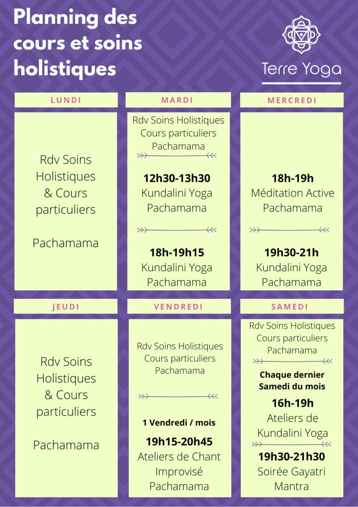 Planning des cours de Kundalini Yoga avec Sébastien Rouel - Centre Pachamama Lyon